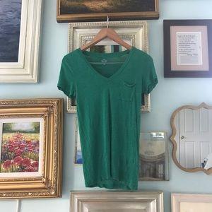 J.Crew green linen t-shirt